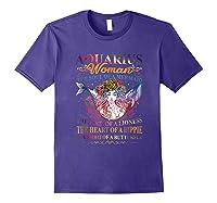 Aquarius Woman The Soul Of A Mermaid T Shirt Birthday Tees Purple