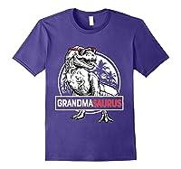 Grandmasaurus T Rex Grandma Saurus Dinosaur Grandmom Shirts Purple