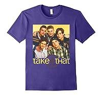 Take That Retro 90's Boyband Group Shot Shirts Purple