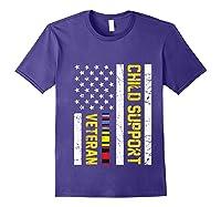 Child Support Veteran Tshirt Veteran Day Gift Pullover Purple