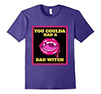 Lips You Coulda Had A Bad Witch Funny Halloween Gift T-shirt Purple