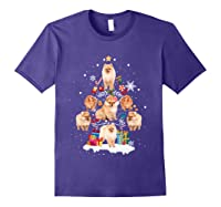 Pomeranian Christmas Tree Gift Xmas Holiday Shirts Purple