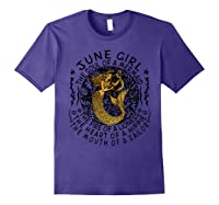 June Girl The Soul Of A Mermaid Tshirt Funny Gifts Purple