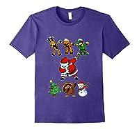Dabbing Santa Friends Christmas Girls Xmas Gifts Shirts Purple