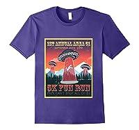 Alien Ufo 5k Fun Run Storm Area 51 Shirts Purple