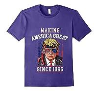 Happy 1965 It's My 54th Years Old Birthday Gift Ideas Tshirt Purple