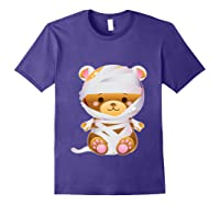 Mummy Bear Halloween Out Costume Party Gifts Pullover Shirts Purple