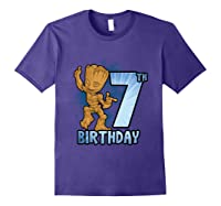 Guardians Of The Galaxy Baby Groot 7th Birthday Shirts Purple