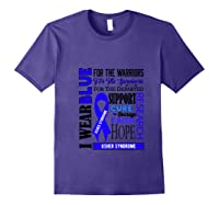 I Wear Blue For The Warriors Usher Syndrome Awareness Pullover Shirts Purple