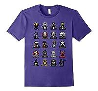 Friends Cartoon Halloween Character Scary Horror Movies Shirts Purple