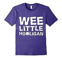 Wee Little Hooligan Shamrock Saint Patrick Day Gift T Shirt Purple