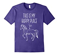 This Is My Happy Place Horse Lover T-shirt Horseback Riding Purple
