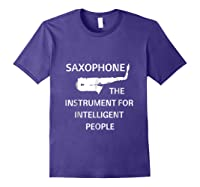 Saxophone Player Music Jazz Edition Shirts Purple
