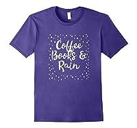 Coffee Books Rain Novelty Shirts Purple