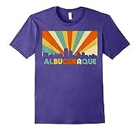 Albuquerque T Shirt City Skyline 70s Retro Souvenir Shirt Purple