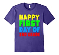 Happy First Day Of Second Grade School For 2nd Grade Shirts Purple