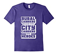Rural Carriers Shirt Funny Postal Worker Postman T Shirts Purple