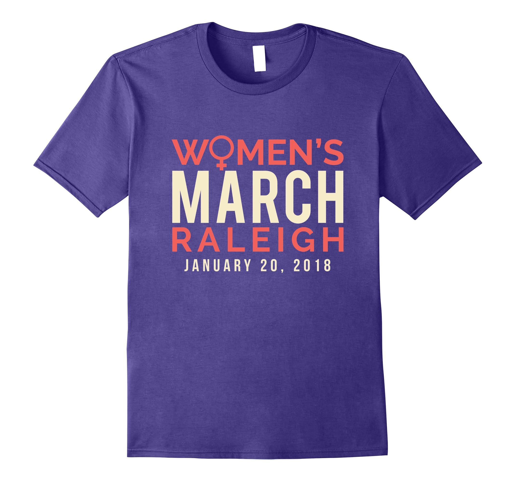 Raleigh NC Women's March January 20 2018 Tee Shirt-RT
