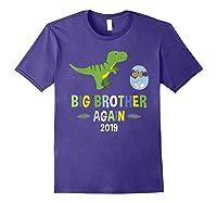 Big Brother Again Shirt 2019 T-rex Dinosaur T-shirt Purple