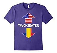 Romanian Two Seater Dad Joke Meme Gift American Flag Shirts Purple