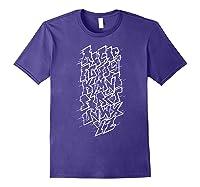 Grafi Tag Lettering Abc B-boy Streetart Urban Art T-shirt Purple