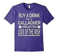 Gallagher Luck Of The Irish Namesake Family Gift T Shirt Purple