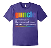 Guncle Like A Dad But So Much Cooler Lgbt Pride Tshirt Purple