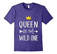 Queen Of The Wild One Thing 1st Birthday Gif Shirts Purple