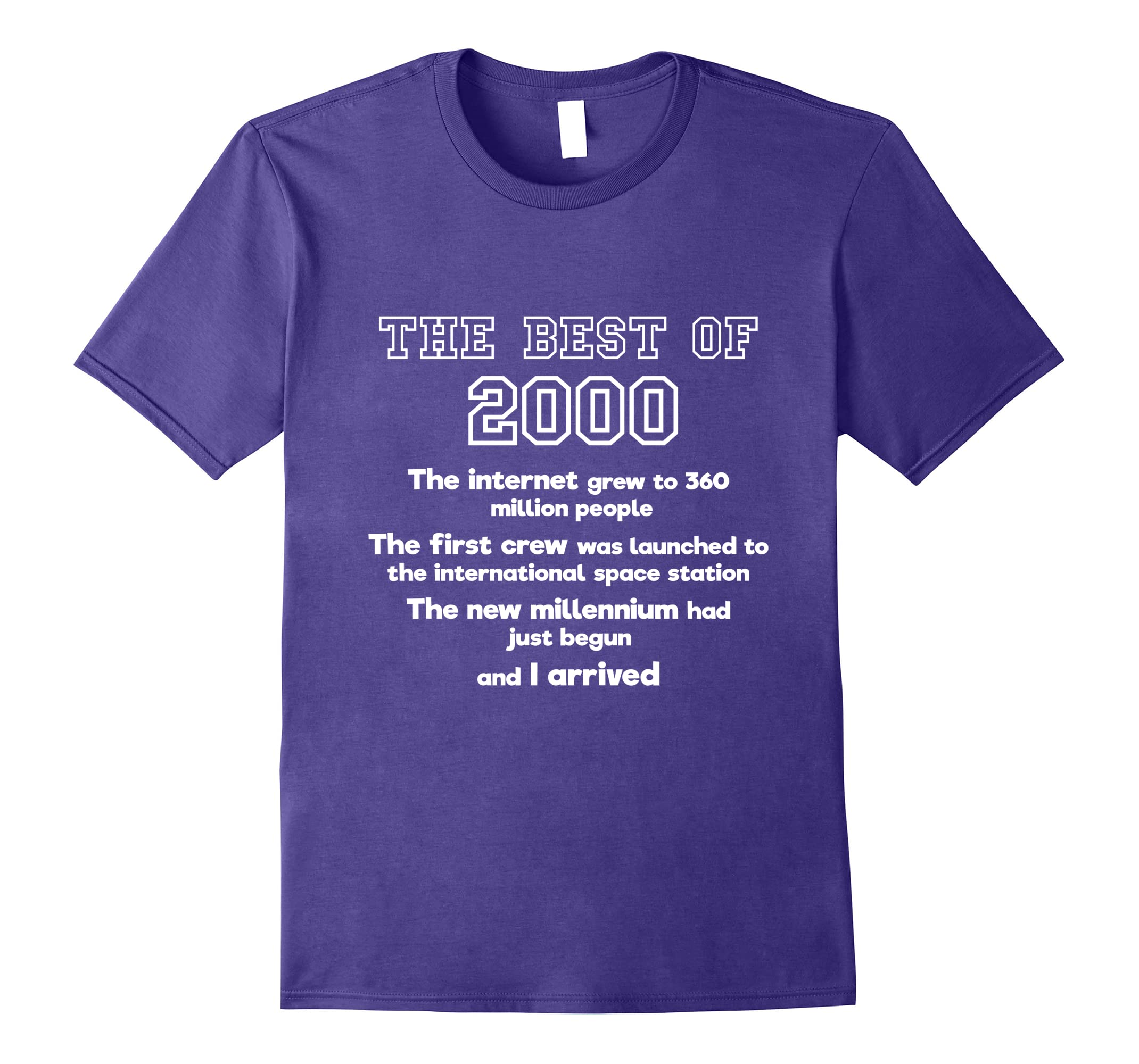 2000 18th birthday T shirt gift for 18 year old boys & girls-RT