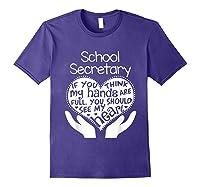 School Secretary Clerk Office Heart Group Gift Shirts Purple