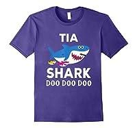 Tia Shark Doo Doo Doo Matching Family Shirts Purple