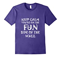 Keep Calm You Re On The Fun Side Of The Wall Funny Mexican Tank Top Shirts Purple