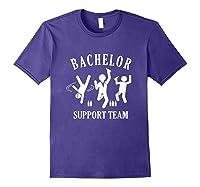 S Bachelor Shirt Gamer Shirt Bachelor Team Support T Shirt Purple