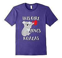 This Girl Loves Koalas Eucalyptus Bear Australia T-shirt Purple