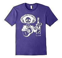 Mariachi Skeleton With Tequila Dia De Los Muertos Shirts Purple