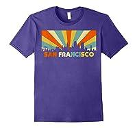San Francisco City T-shirt, Souvenir Ca Retro Vintage Shirt Purple