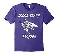 Cocoa Beach Shark Skeleton T Shirt Purple