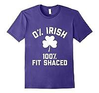 0 Irish 100 Shaced Saint Patrick S Day T Shirts Purple
