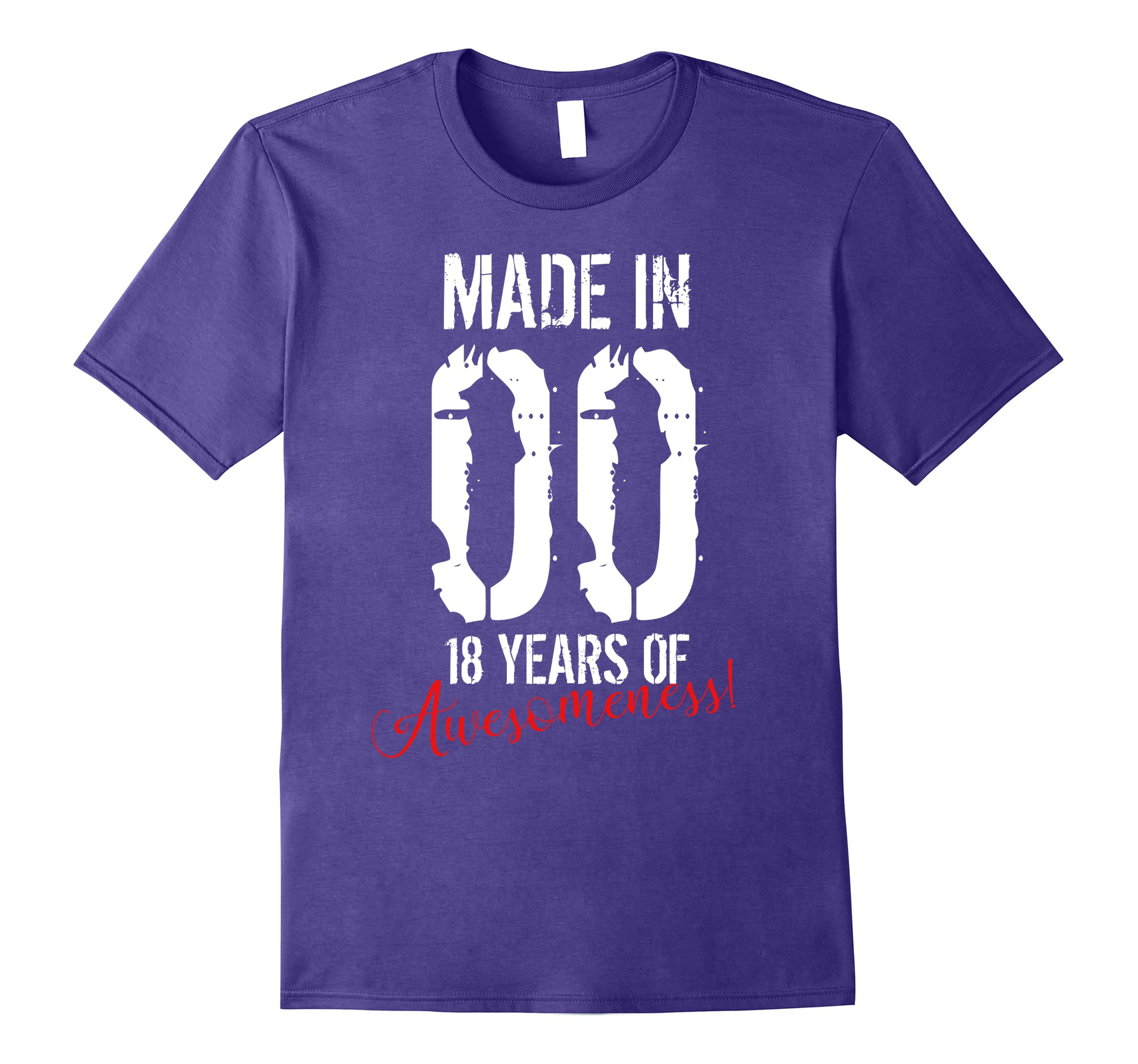 18 Year Old Birthday Gift Shirt Awesome 18th Birthday Gift Rt