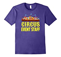 Circus Event Staff T-shirt   Carnival Birthday Party Shirt Purple