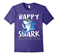Bappy Shark, Fathers Day Gift From Wife Son Daughter Shirts Purple