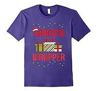 Funny Christmas Gift Gangsta Wrapper Shirts Purple