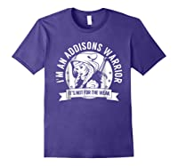 Addisons Hooded Warrior T-shirt- Addisons Disease Awareness Purple