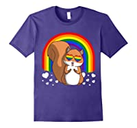 Squirrel Gay Pride Rainbow Q Cute Gift Shirts Purple