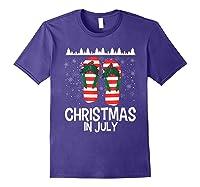Christmas In July Santa Flip Flop Summer Xmas Gift Shirts Purple