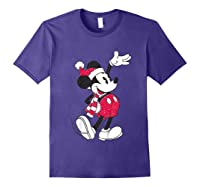 Disney Hello Holiday Mickey T Shirt Purple