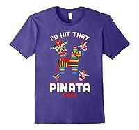 I'd Hit That Pinata 2019 With Sugar Skull Mexican Shirts Purple