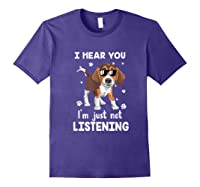 Hear You 'm Just Not Listening Funny Beagle Shirts Purple