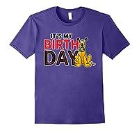 Disney Pluto My Birthday T Shirt Purple