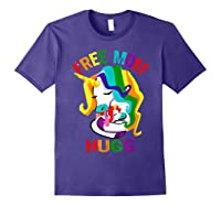 Free Mom Hugs Lgbt Gay Pride T-shirt Purple